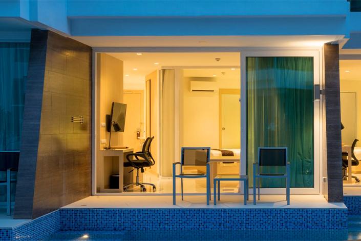 PLL_Pool Access Beach front apartment in chalong beach phuket